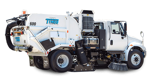 Tymco Model 600 Street Sweeper